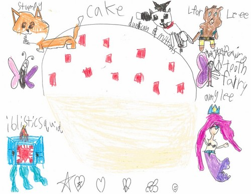 Stampylongnose wallpaper called Cake for Stampy and Friends
