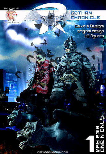 Batman wallpaper containing anime entitled Calvin's Custom 1/6 One Sixth Scale Gotham Chronicle: Batman