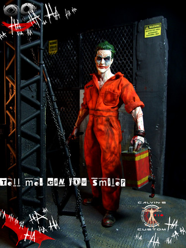 The Joker kertas dinding titled Calvin's Custom one sixth 1:6 scale original Rekaan JOKER
