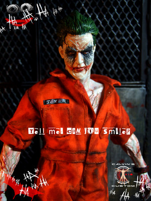 Calvin's Custom one sixth 1:6 scale original डिज़ाइन JOKER