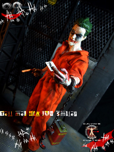 小丑 壁纸 possibly containing a chainlink fence, a sign, and a 街, 街道 titled Calvin's Custom one sixth 1:6 scale original 设计 JOKER