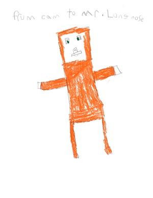 Cameron Draws Mr. Stampy