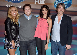 Cast Of Weird Loners at 'American Idol XIV' Finalist Party