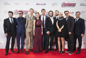 Cast Red Carpet at Avengers Age of Ultron UK Premiere
