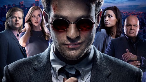 Daredevil (Netflix) 壁紙 containing a business suit entitled Cast of Season One