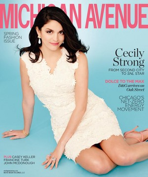 Cecily Strong on the cover of Michigan Avenue - Spring 2014