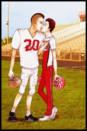 Cheerio Kurt and Footballer Puck