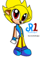 Chibi Super Dusan the hedgehog