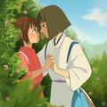 Chihiro and Haku - spirited-away fan art