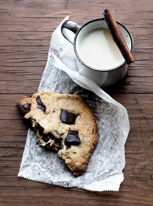 Schokolade Cookie and milch