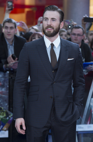 Chris Evans aka Captain America at Red Carpet at Avengers Age of Ultron UK Premiere