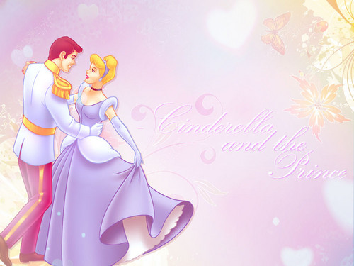Disney Princess پیپر وال called Cinderella and her Prince پیپر وال