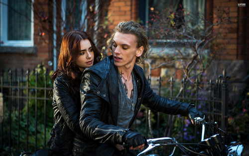 Mortal Instruments wallpaper possibly with a bicycling, a bicycle, and a mountain bike entitled Clary and Jace