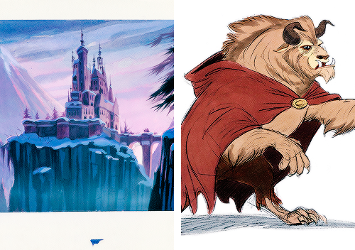 Concept art for Beauty and the Beast