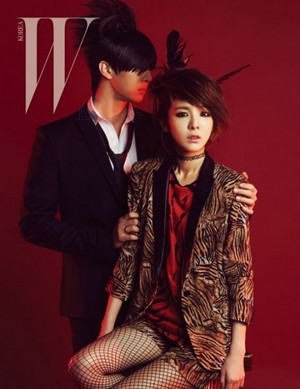 Dara and Thunder in 'W Korea'