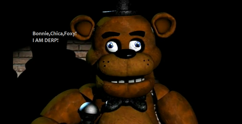Five Nights at Freddy's kertas dinding entitled Derp Freddy