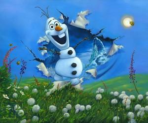 """Disney Fine Art - Nữ hoàng băng giá - """"Bursting Into Spring"""" bởi Jim Warren"""