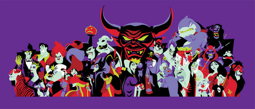 Penjahat Disney kertas dinding entitled Disney Villains Banner