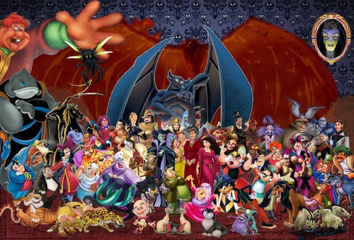 Childhood Animated Movie Villains wallpaper called Disney Villains