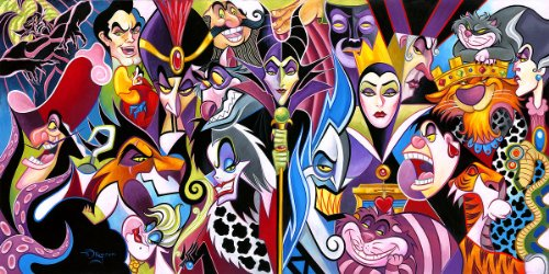 Childhood Animated Movie Villains achtergrond with anime entitled Disney Villains
