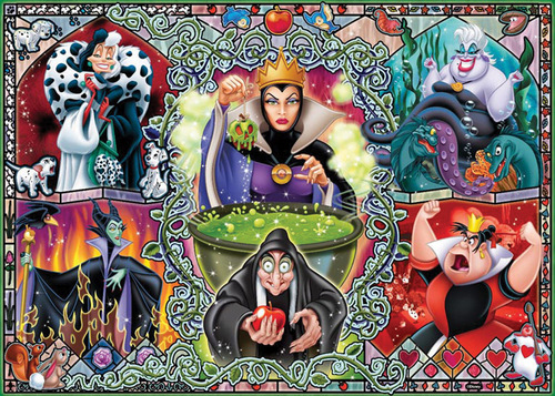 Childhood Animated Movie Villains Hintergrund containing a stained glass window and Anime entitled Disney Villains