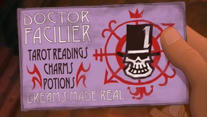 Dr Facilier's card