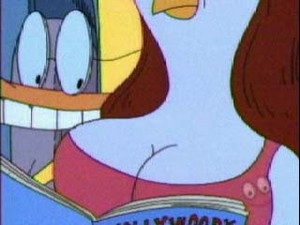 Duckman looking at Honey Breasts