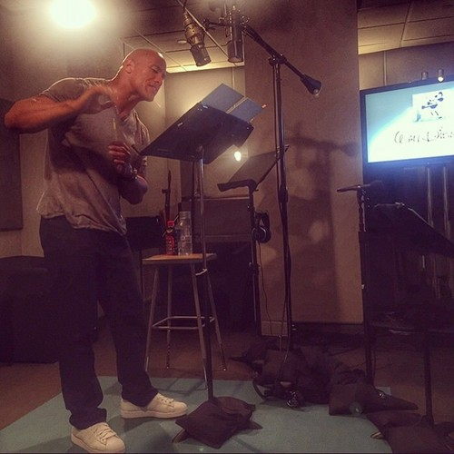 Disney's Moana वॉलपेपर containing a संगीत कार्यक्रम entitled Dwayne Johnson had his first recording session for Moana as Maui yesterday.