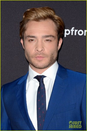 Ed Westwick walking the carpet at the 2015 ABC Upfront presentation on Tuesday (May 12)