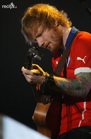 Ed onstage in Chile