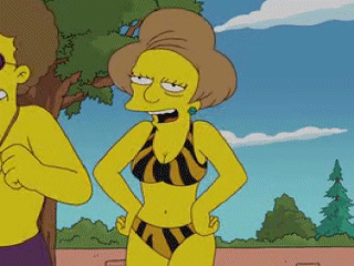 Les Simpsons fond d'écran containing animé called Edna Krabappel