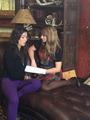 Elise and Natasha on set of Carmilla S2