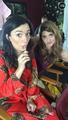 Elise and Natasha on set of season 2 (via Snapchat)2