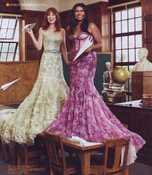 Ellie Kemper and Mindy Kaling - People's Most Beautiful Photoshoot - 2011