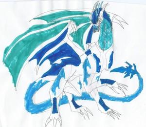 Elsa Sanandra Ice Dragon Form