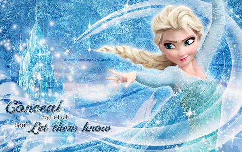 엘사와 안나 바탕화면 entitled Elsa 바탕화면