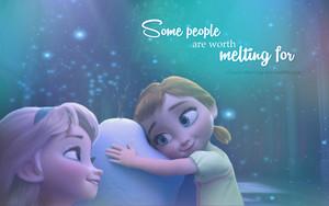 Elsa and Anna 壁纸