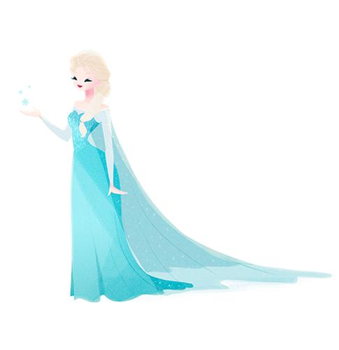 ডিজনি Extended Princess দেওয়ালপত্র called Elsa