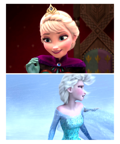 Disney Females wolpeyper probably containing a portrait called Elsa