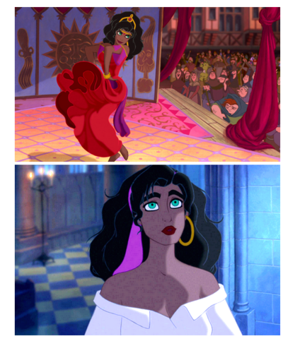 The Hunchback of Notre Dame wallpaper possibly containing anime called Esmeralda