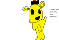 Golden Freddy loves te