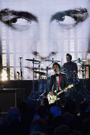 Green Day Performing On Stage @ the 30th Annual Rock And Roll Hall Of Fame Induction Ceremony