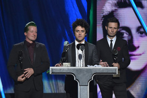 Green dag Speaking @ the 30th Annual Rock And Roll Hall Of Fame Induction Ceremony