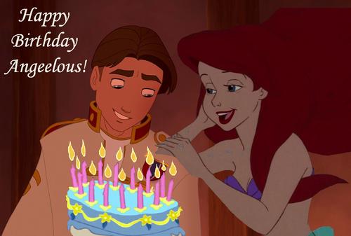 डिज़्नी क्रॉसोवर वॉलपेपर entitled Happy Birthday Angeelous!