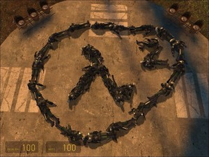 Half-Life 2 made from Combine Soldiers