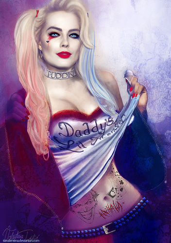 Harley Quinn wallpaper probably with a portrait entitled Harley Qunn Suicide Squad
