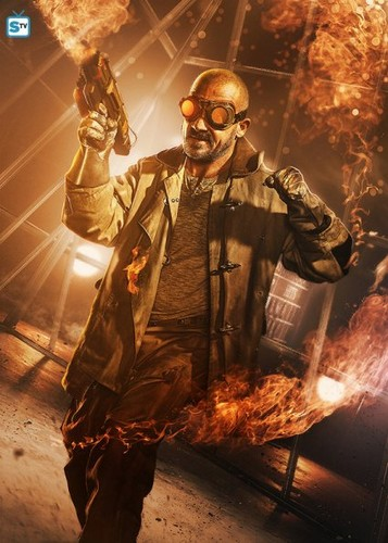 The Flash (CW) wallpaper probably with a barbecue, a gasmask, and a fire titled Heatwave Poster