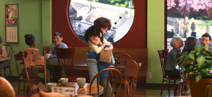 Hiro, Aunt Cass and Baymax