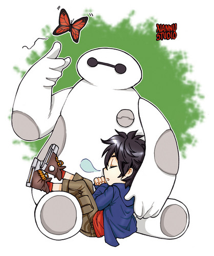 Big Hero 6 wallpaper with anime entitled Hiro and Baymax