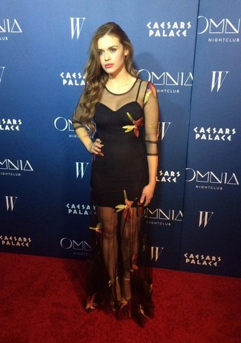 Holland Roden wallpaper possibly containing a sign titled Holland attends Omnia Nightclub At Caesars Palace Grand Opening Weekend